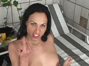 Gorgeous tranny hungrily sucks and rides big dick