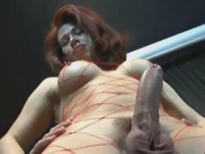 Beautiful redhead tranny and guy exchange blowjobs