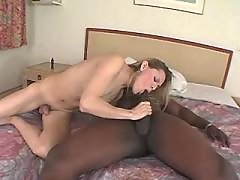 Cute tranny gets cum from black guy