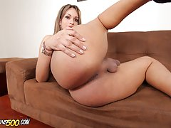 Watch lovely shemale Sharlot get her ass fucked!