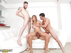 Naomi definitely is in for a treat when these three men make their way to the casting. She doesn't want one, she wants them all. If you know Naomi, you know she always gets what she wants. She's always wanted to get gangbanged by three hung TS lovin' cock