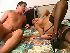 Shemale seduces guy and sucks cock