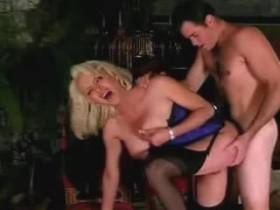 Man bangs beautiful shemale and cums her big breast